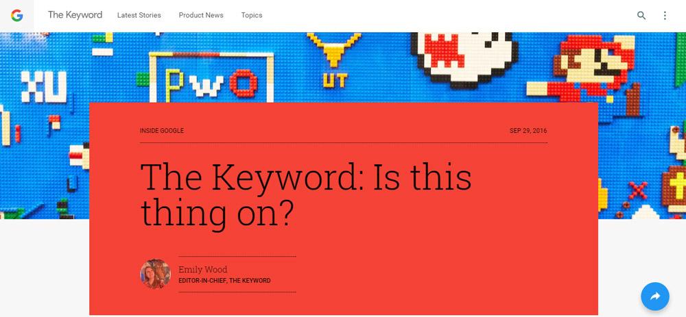 The Keyword Blog