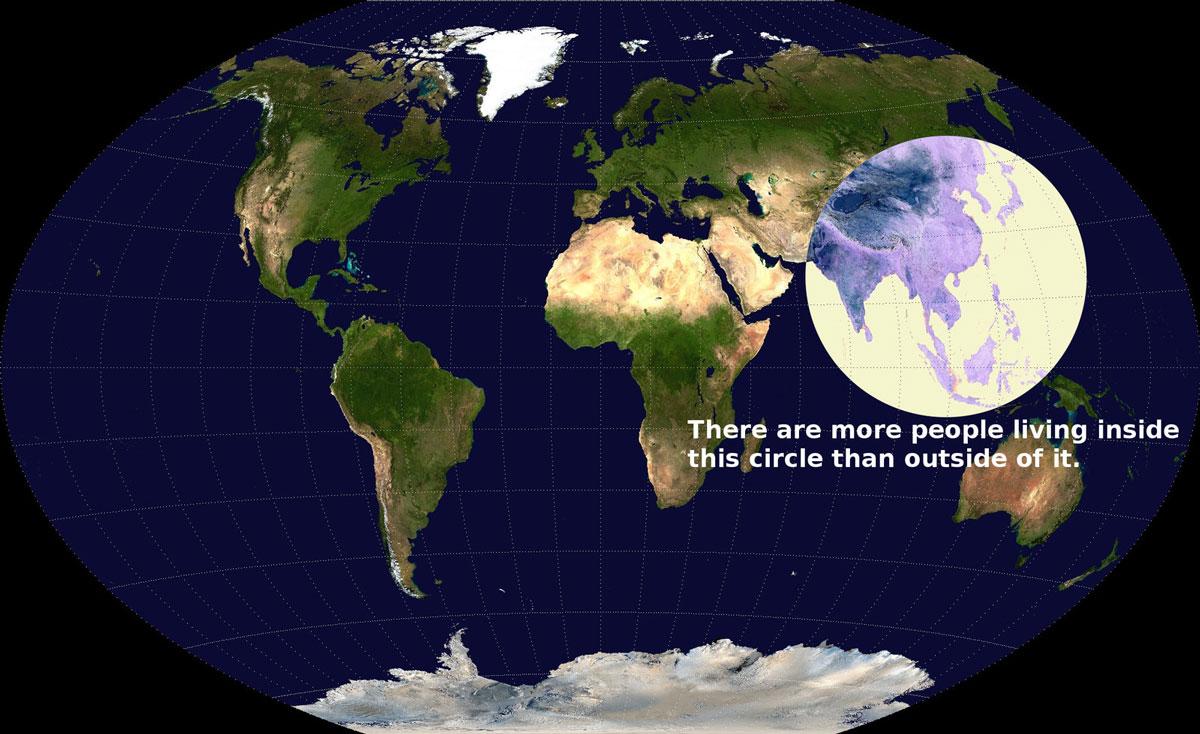 En fazla nüfus yoğunluğu olan bölgeler