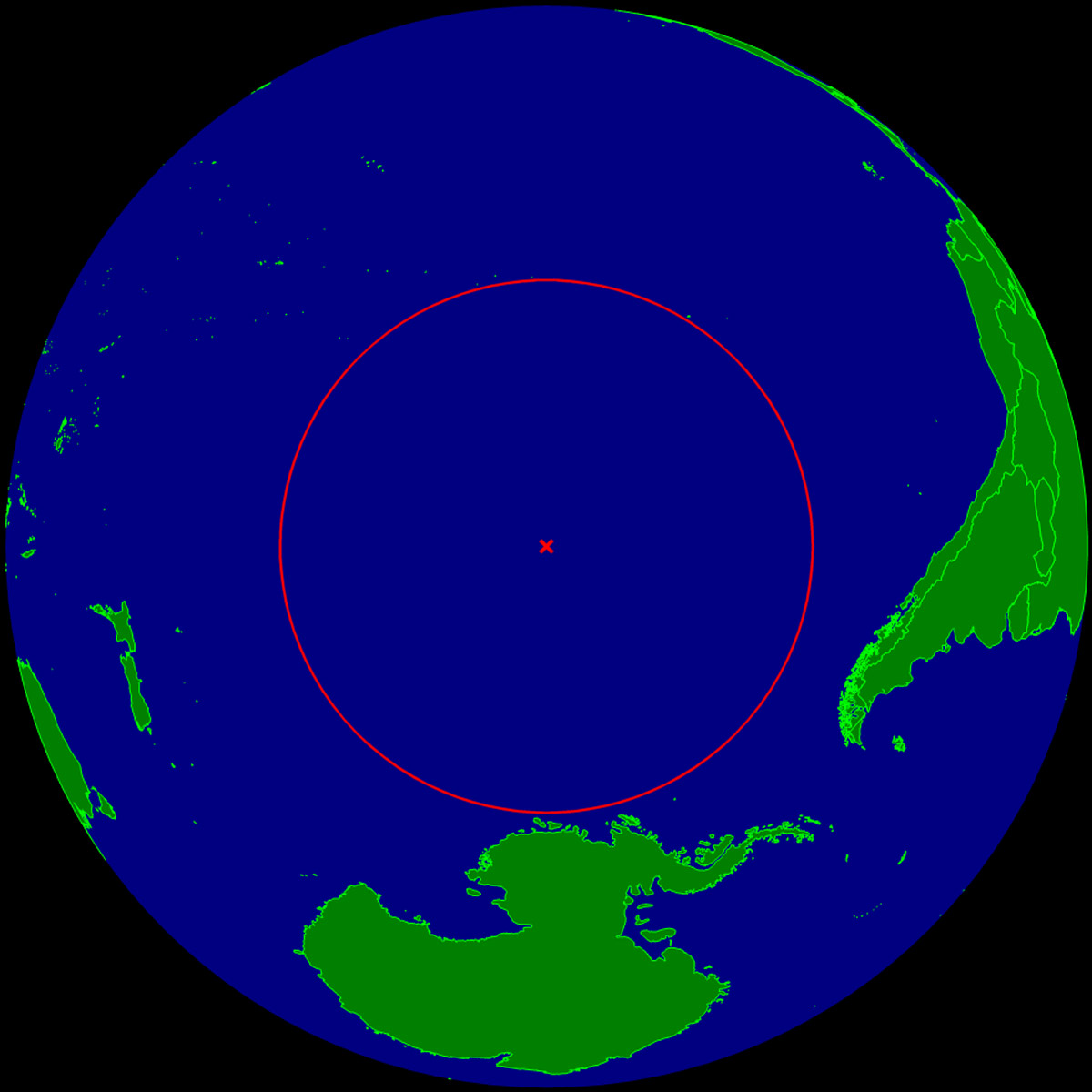 Pacific pole of inaccessibility