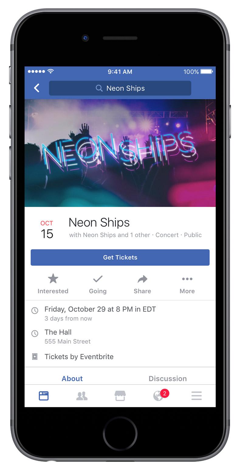 Facebook Bilet Satın Alma