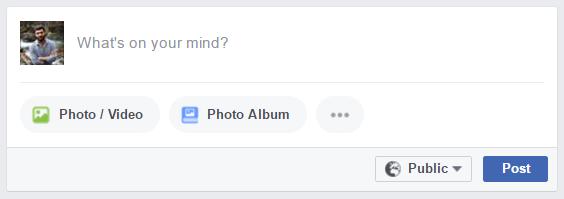 Facebook yeni paylaşım alanı