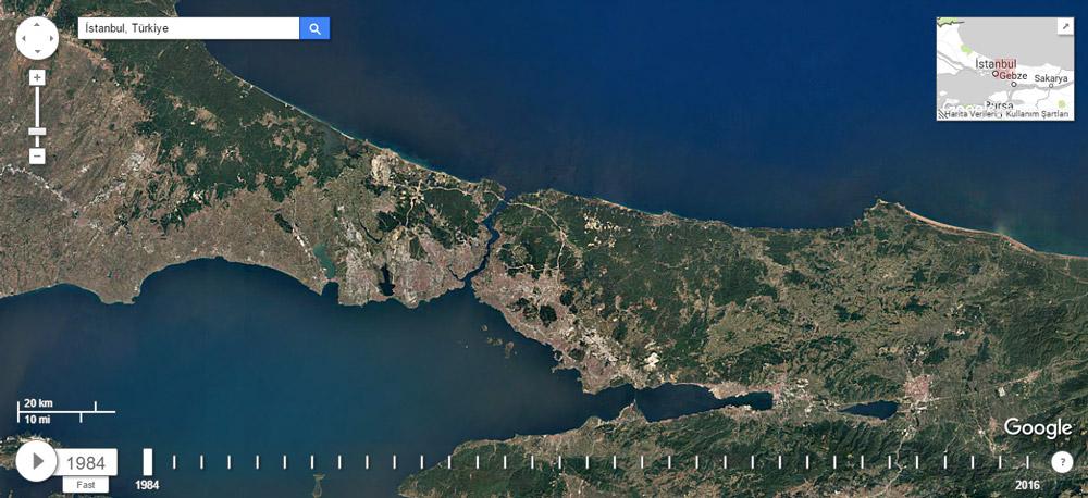 Google Earth Timelapse İstanbul