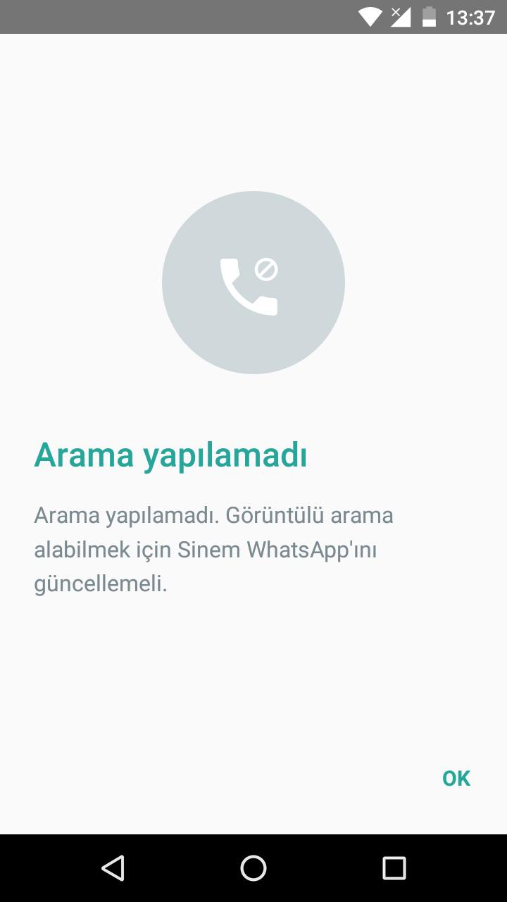 WhatsApp Görüntülü Arama