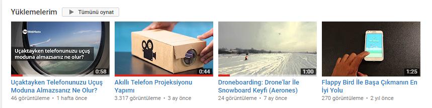YouTube Video İzlenme Miktarı