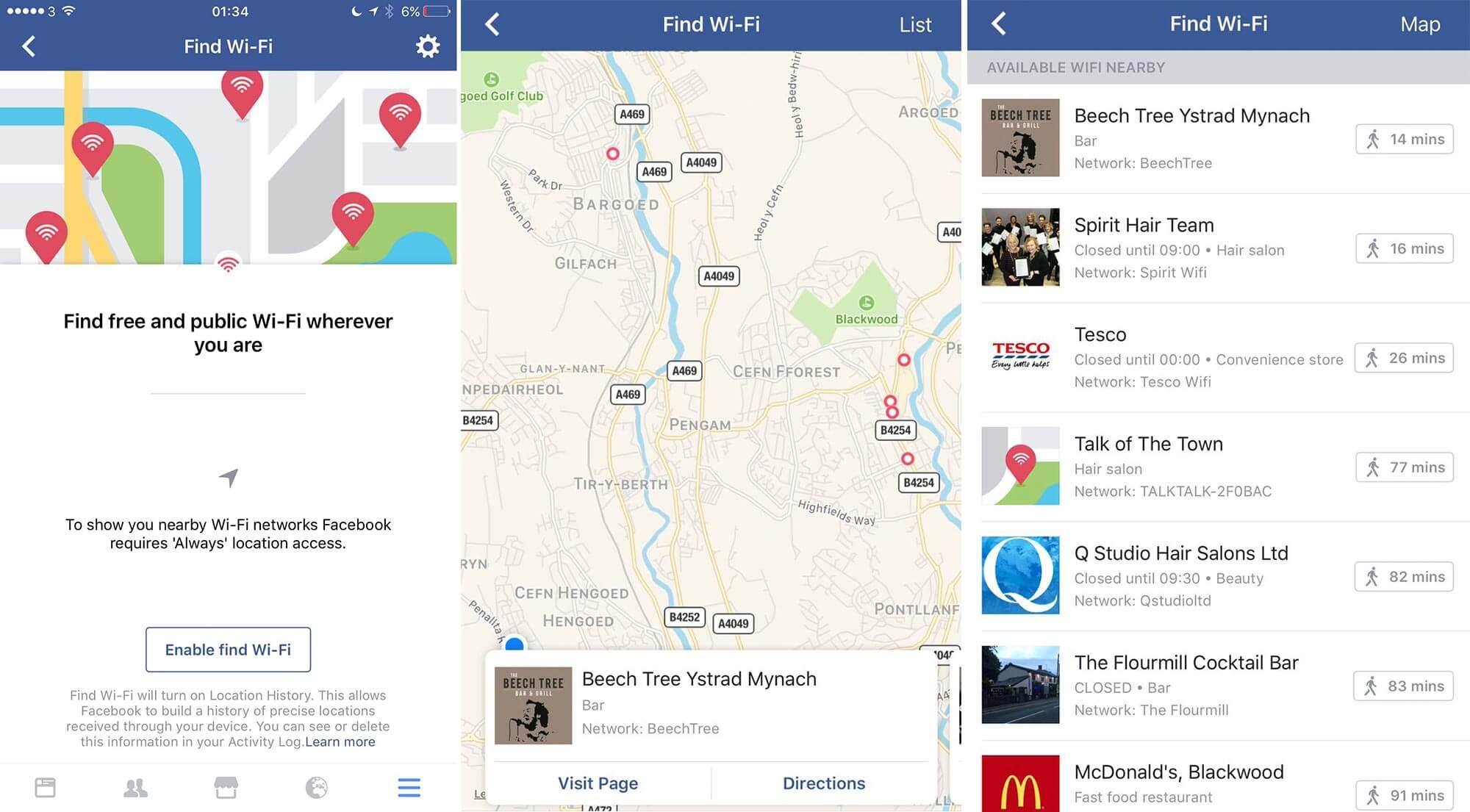 Facebook Wi-Fi Noktaları