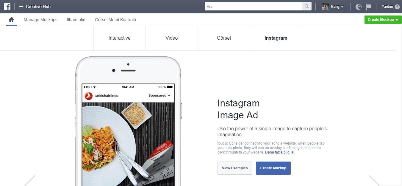 Facebook Creative Hub reklam formatları