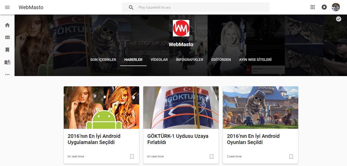 Google Play Gazetelik Web Sürümü