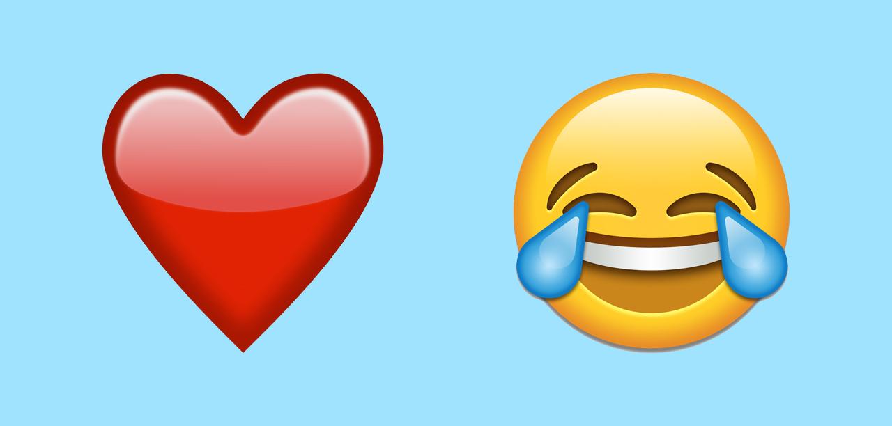 Kalp ve gülen surat emojisi