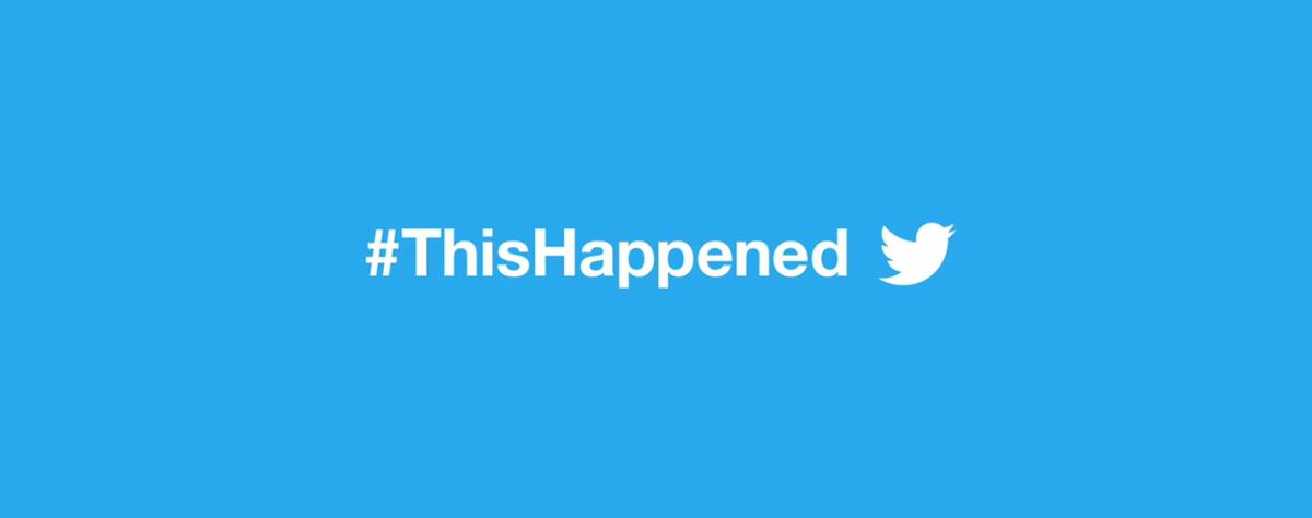 Twitter 2016 #ThisHappened
