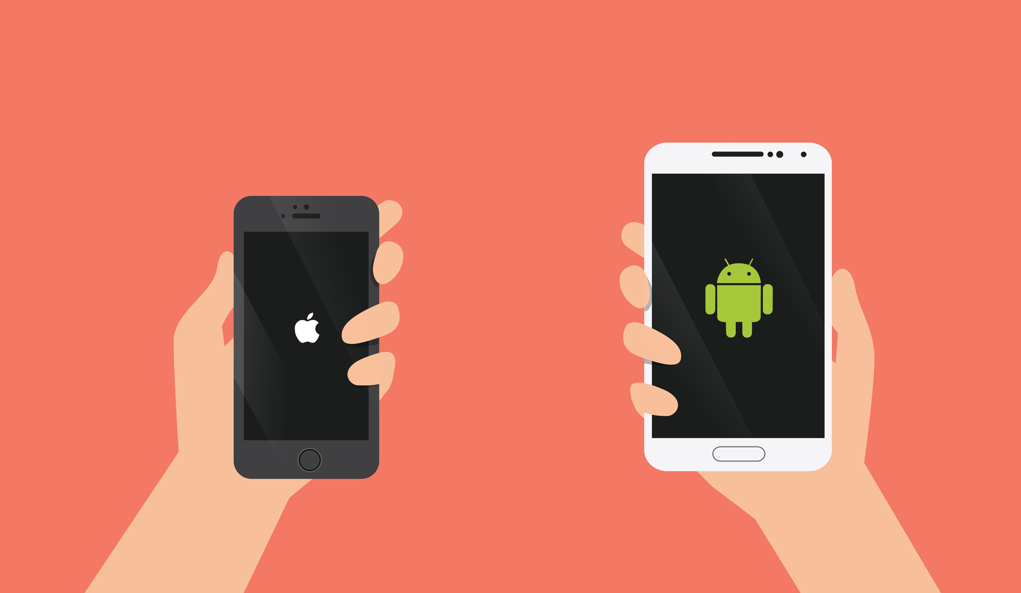 android phones versus iphones We could say ios is optimized to squeeze the most out of the battery per mah rating, but you can buy an android device with a much bigger battery that will easily outlast the iphone.